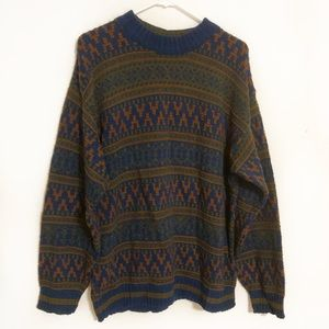 Christian Dior men's cotton knit patterned sweater